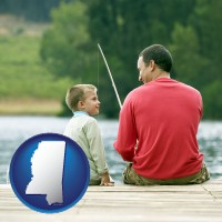 mississippi a father and a son fishing